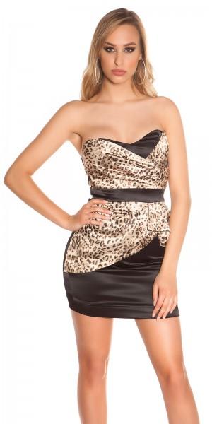 Sexy Bandeau Cocktail-Kleid mit Reißverschluss