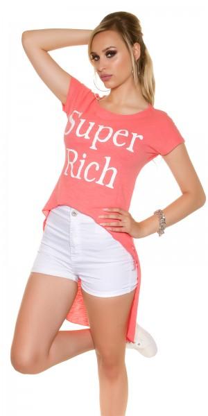 """Sexy KouCla HighLow Shirt """"Super Rich"""""""