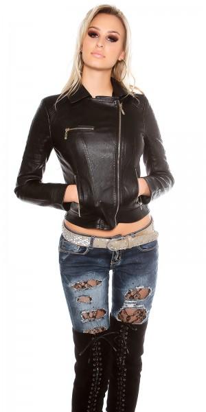 Sexy KouCla Bikerlook Jacke mit Zips