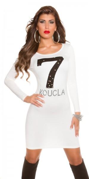 Trendy Koucla Feinstrick-Kleid mit Strasssteinen