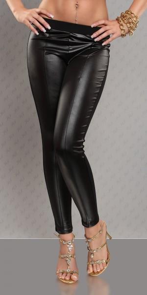 Sexy Leggings im Lederlook