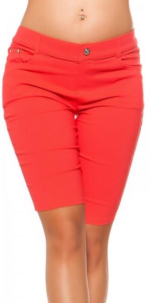 Trendy Jeanslook Shorts mit Strass