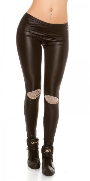 Sexy Leggings mit Knie-patches