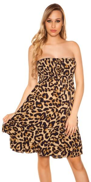 Sexy Bandeau Sommerkleid mit Volant