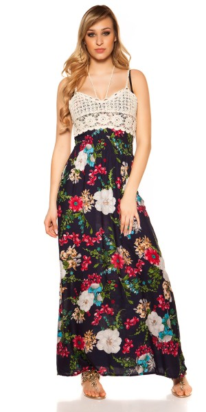 Sexy Maxi Träger Sommerkleid Blumenprint