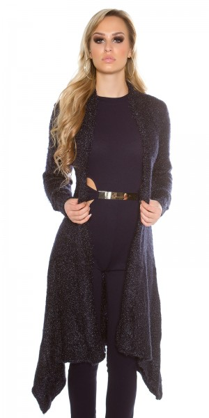 Trendy Kuschel Long Strickjacke