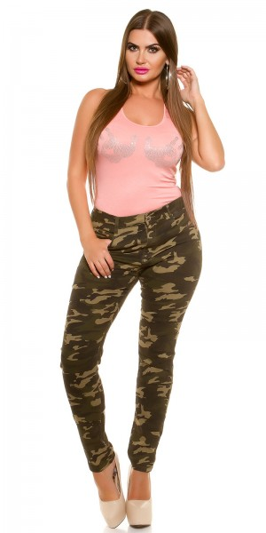 Curvy Girls Size! Trendy Jeans in Camouflage