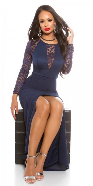 Sexy KouCla Maxi Abendkleid mit Spitze langarm