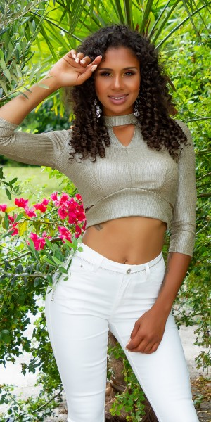 Sexy Schimmer Crop top mit cut outs