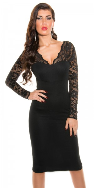 Sexy KouCla Mini-Dress mit Spitze