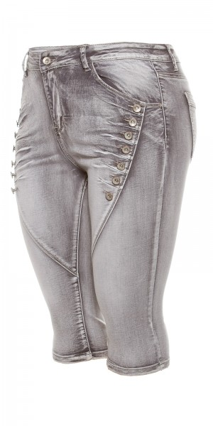 Curvy Girls Size! Trendy Capri Jeans Knielang