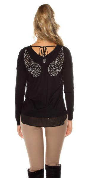 Trendy Koucla Pullover mit Engelsflügeln