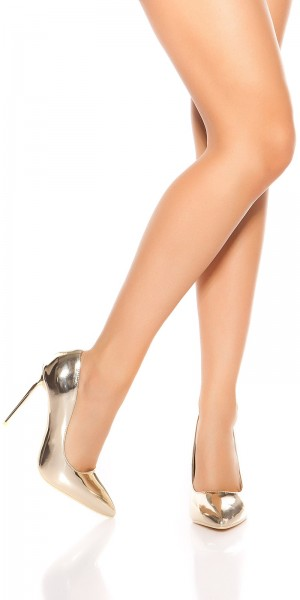 Sexy Metallic-Look High Heels