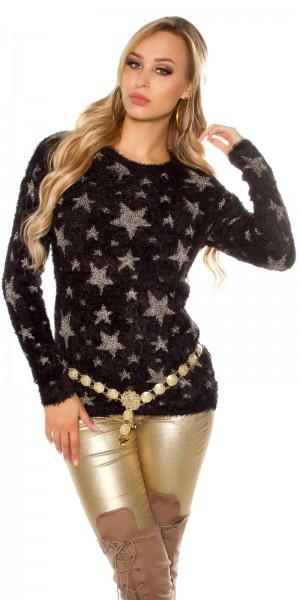 Trendy Kuschelpulli mit Sternen